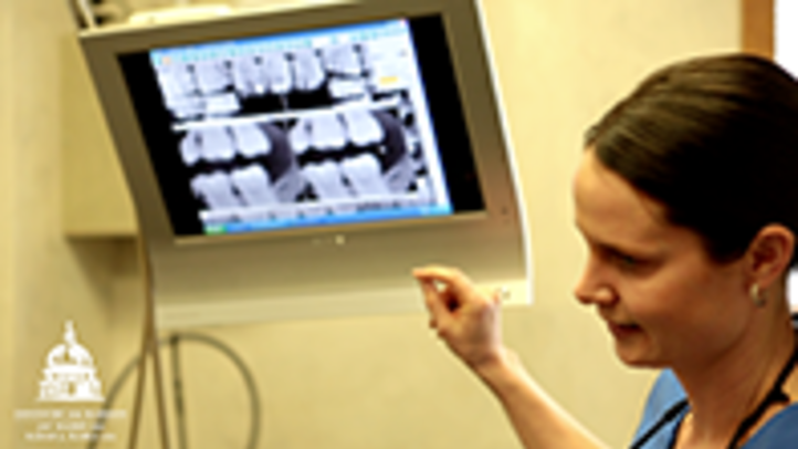 Dentistry technology at Dr. Jay Hazen's Madison dental practice has been improving throughout the years. One of their first improvements in technology was the use of digital X-rays, allowing them to instantly see a patient's teeth in detail. Their practice also uses equipment like Sonic Care, CEREC, and a CAT scan machine.