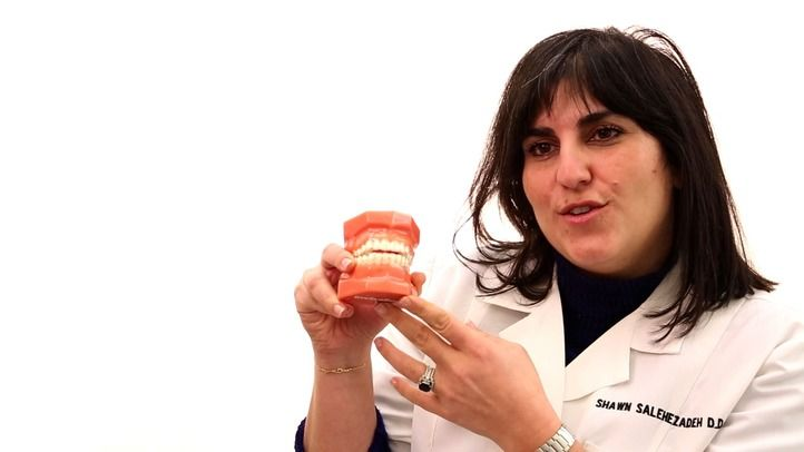 Invisalign uses clear aligner trays to gradually shift teeth into place, and is the easiest way to obtain orthodontic movement.  This method is much less painful than traditional metal braces, and almost invisible, so even business professionals can receive treatment and no one need know. Dr. Salehezadeh is certain that Invisalign effectively corrects overcrowding, spaces between teeth and more, because she has been an Invisalign patient herself.
