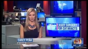 Laser Cataract Surgery on News 3