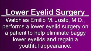 Watch a Lower Eyelid Surgery